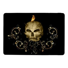 Golden Skull With Crow And Floral Elements Samsung Galaxy Tab Pro 10 1  Flip Case