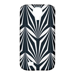Art Deco, Black,white,graphic Design,vintage,elegant,chic Samsung Galaxy S4 Classic Hardshell Case (pc+silicone)