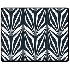 Art Deco, Black,white,graphic Design,vintage,elegant,chic Double Sided Fleece Blanket (medium)