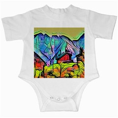 Magic Cube Abstract Art Infant Creepers
