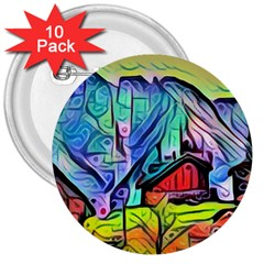 Magic Cube Abstract Art 3  Buttons (10 Pack)