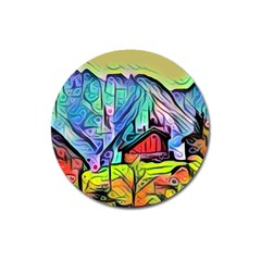Magic Cube Abstract Art Magnet 3  (round)