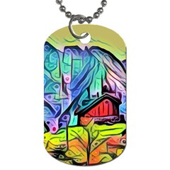 Magic Cube Abstract Art Dog Tag (one Side)