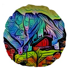Magic Cube Abstract Art Large 18  Premium Round Cushions