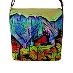 Magic Cube Abstract Art Flap Messenger Bag (l)