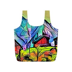 Magic Cube Abstract Art Full Print Recycle Bags (s)
