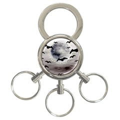 Bats On  The Moon 3 Ring Key Chains