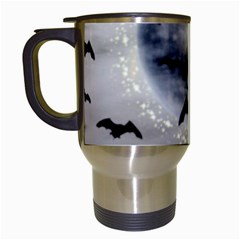 Bats On  The Moon Travel Mugs (white)
