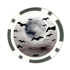 Bats On  The Moon Poker Chip Card Guard