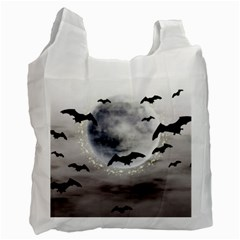 Bats On  The Moon Recycle Bag (two Side)
