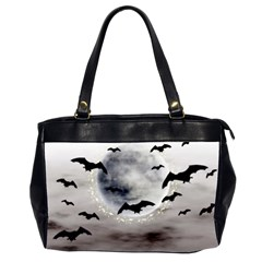 Bats On  The Moon Office Handbags (2 Sides)