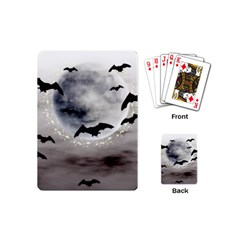 Bats On  The Moon Playing Cards (mini)