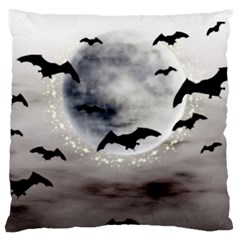 Bats On  The Moon Standard Flano Cushion Case (one Side)