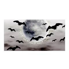 Bats On  The Moon Satin Wrap