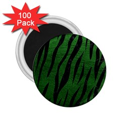 Skin3 Black Marble & Green Leather (r) 2 25  Magnets (100 Pack)