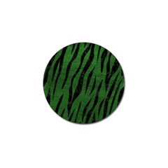 Skin3 Black Marble & Green Leather (r) Golf Ball Marker (10 Pack)