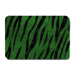 Skin3 Black Marble & Green Leather (r) Plate Mats