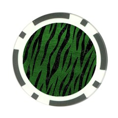 Skin3 Black Marble & Green Leather (r) Poker Chip Card Guard