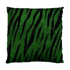 Skin3 Black Marble & Green Leather (r) Standard Cushion Case (two Sides)