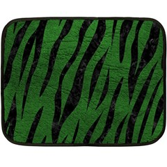 Skin3 Black Marble & Green Leather (r) Fleece Blanket (mini)