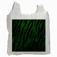 Skin3 Black Marble & Green Leather (r) Recycle Bag (one Side)