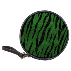 Skin3 Black Marble & Green Leather (r) Classic 20 Cd Wallets