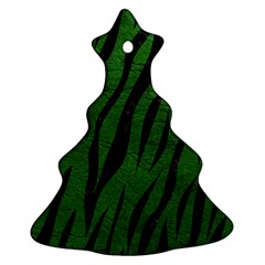 Skin3 Black Marble & Green Leather (r) Ornament (christmas Tree)