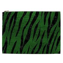 Skin3 Black Marble & Green Leather (r) Cosmetic Bag (xxl)