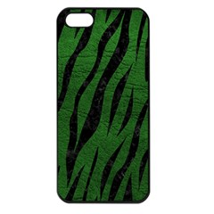 Skin3 Black Marble & Green Leather (r) Apple Iphone 5 Seamless Case (black)