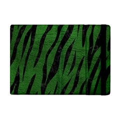 Skin3 Black Marble & Green Leather (r) Apple Ipad Mini Flip Case