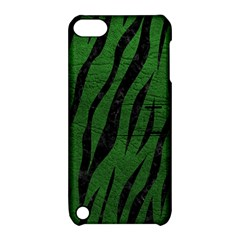 Skin3 Black Marble & Green Leather (r) Apple Ipod Touch 5 Hardshell Case With Stand