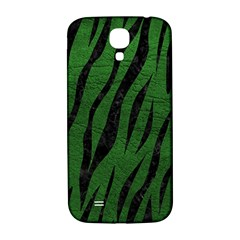 Skin3 Black Marble & Green Leather (r) Samsung Galaxy S4 I9500/i9505  Hardshell Back Case
