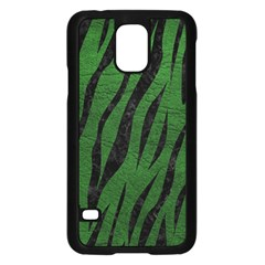 Skin3 Black Marble & Green Leather (r) Samsung Galaxy S5 Case (black)
