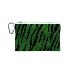 Skin3 Black Marble & Green Leather (r) Canvas Cosmetic Bag (s)