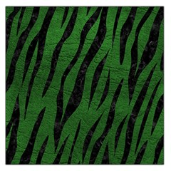 Skin3 Black Marble & Green Leather (r) Large Satin Scarf (square)