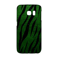 Skin3 Black Marble & Green Leather (r) Galaxy S6 Edge