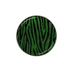 Skin4 Black Marble & Green Leather Hat Clip Ball Marker (4 Pack)