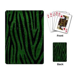 Skin4 Black Marble & Green Leather Playing Card