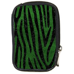 Skin4 Black Marble & Green Leather Compact Camera Cases