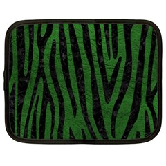 Skin4 Black Marble & Green Leather Netbook Case (xl)