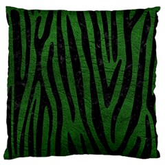 Skin4 Black Marble & Green Leather Standard Flano Cushion Case (two Sides)
