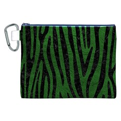 Skin4 Black Marble & Green Leather Canvas Cosmetic Bag (xxl)