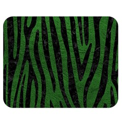 Skin4 Black Marble & Green Leather Double Sided Flano Blanket (medium)