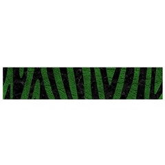 Skin4 Black Marble & Green Leather Flano Scarf (small)