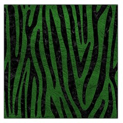Skin4 Black Marble & Green Leather Large Satin Scarf (square)