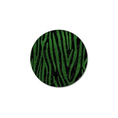 Skin4 Black Marble & Green Leather (r) Golf Ball Marker (4 Pack)