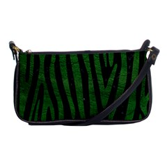 Skin4 Black Marble & Green Leather (r) Shoulder Clutch Bags