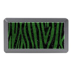 Skin4 Black Marble & Green Leather (r) Memory Card Reader (mini)