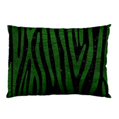 Skin4 Black Marble & Green Leather (r) Pillow Case (two Sides)