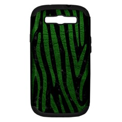 Skin4 Black Marble & Green Leather (r) Samsung Galaxy S Iii Hardshell Case (pc+silicone)